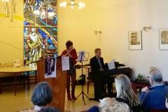 17 januari 2016, met Jan Ziuidema en Paula Snoeier (muziek) Ton Heijboer (column), gelegenheidskoor bij community singing, Erik Post (verhaal over reizigers) met Jan Beemster gitaar.